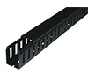 CABLE TRUNKING GF-A7/5 BLACK 25 x 25 WITH SLOT IN LENGTH 2 M